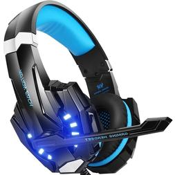 Gaming Headphones For PS4, PC, Xbox One With Mic LED Light B