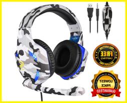 Gaming Headset 3.5mm K17 MIC LED Headphones for PC Laptop PS