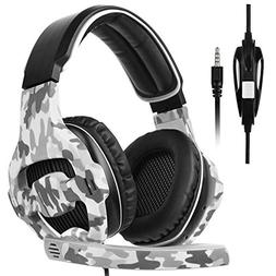 Sades Gaming Headset for Xbox one PS4, Over Ear Noise Cancel