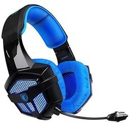 SADES Gaming Headset with Mic Volume Control LED, Yanni Sade
