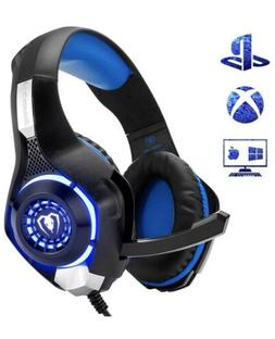 Beexcellent Gaming Headset Blue For XBox, PlayStation PS4, P