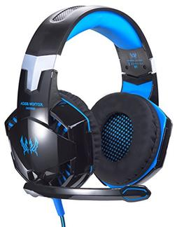 PC Gaming Headset Computer Headphone Over Ear Microphone Gam