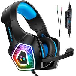 Fuleadture Gaming Headset for PS4 Xbox One, PC Gaming Headse