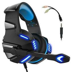 Gaming Headset for PS4 Xbox One,  Over Ear Gaming Headphones