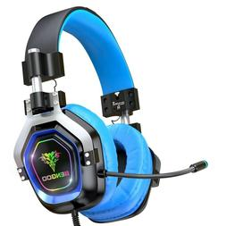 BENGOO Gaming Headset for PS4, Xbox One, PC, blue