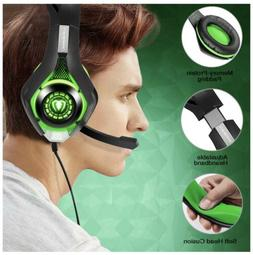 Beexcellent Gaming Headset Green For XBox, PlayStation PS4,