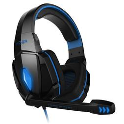 Gaming Headset Microphone Built In Stereo Bass Gamer Headpho