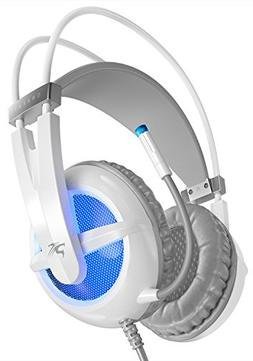 Sentey Gaming Headset Microphone Orbeat White Gs-4440 Audiop
