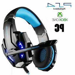 Gaming Headset Microphone PlayStation 4 PS4 LED Lights Xbox