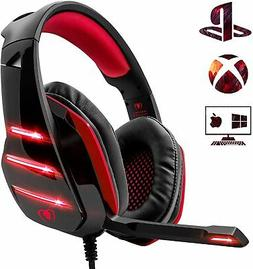 Beexcellent Gaming Headset PS4 Headset, Xbox One Deep Bass H