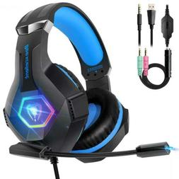 Beexcellent Gaming Headset PS4 Xbox PC Noise-Isolation Mic R