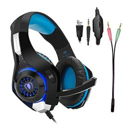 Gaming Headset for PS4|Tezewa Xbox One Gaming Headset|PC Gam