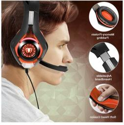 Beexcellent Gaming Headset Red For XBox, PlayStation PS4, PC