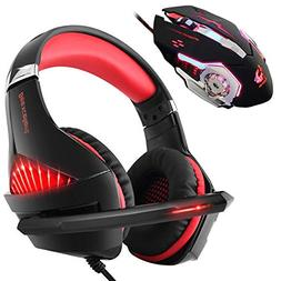 Gaming Headset and RGB Mouse Combo, Pro Gaming Headset for X
