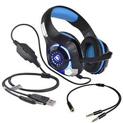 Stereo Gaming Headset for PS4 Xbox One, Beexcellent 3.5mm Ba