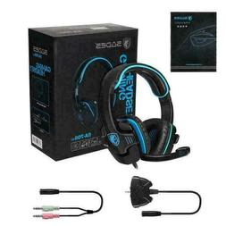 SADES Gaming Hi-Fi Headset Headphone 3.5mm With Mic For PS4