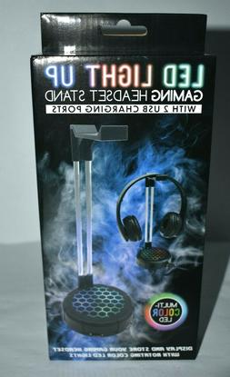 Gaming RGB LED headset Stand raddest Gamer headset stand eve