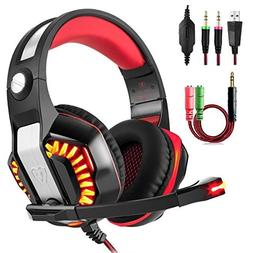 Beexcellent GM-2 Gaming Headset with Mic for New Xbox One PS