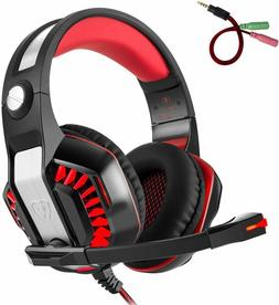 Beexcellent GM-2 Pro Gaming Over-Ear Headset with Mic, LED L