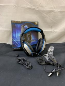 Beexcellent GM-3 Pro Wired Gaming Headset with Mic, Black/Bl