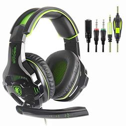 New Xbox One PS4 Gaming Headset with Microphones, Sades SA8