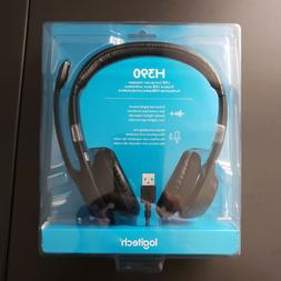 Logitech H390 Comfort USB Wired PC Headset Headphones and Mi