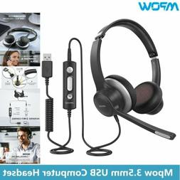 Mpow HC6  3.5mm USB Call Center Headset Noise Reduction Head