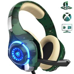 Beexcellent Headphones w Noise Reduction Mic, Gaming Headset