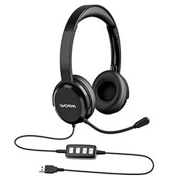 Mpow 218 PC Headset, USB Headset/3.5mm Computer Headset, Por