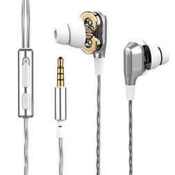 Tvator Electronics Headset in Ear Earphones Dual Drive Wired