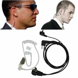 2 Pin Headset Mic Covert Acoustic Tube Earpiece for Motorola