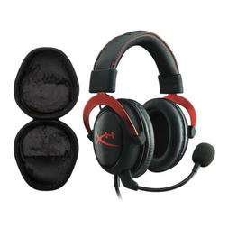 HyperX Cloud II Gaming Headset, Red with Hard Shell Headphon
