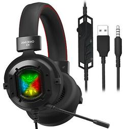 ONIKUMA K3 RGB Wired Pro Stereo Gaming Headset with Stereo B
