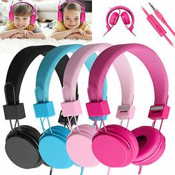 Kids Wired Over Ear Headphones Headset Headband Earphones Fo