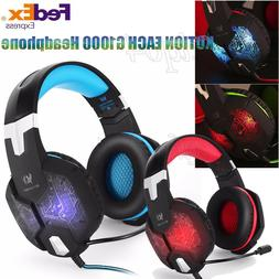 KOTION EACH G1000 3.5mm LED PC Gaming Bass Stereo Headset He