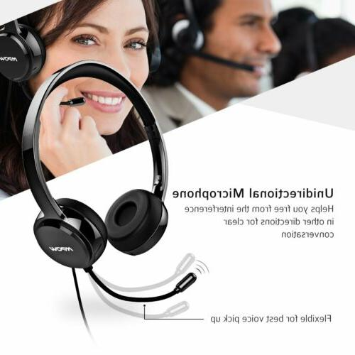 Mpow 071 Computer Headset Office Call Center USB/3.5mm Wired