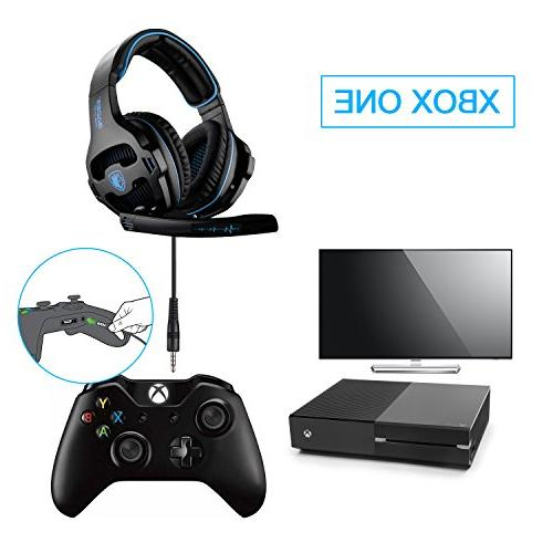 SADES 2018 Newest Gaming Over Ear Stereo Headphones Microphone Control Xbox One PS4 Laptop Mobile