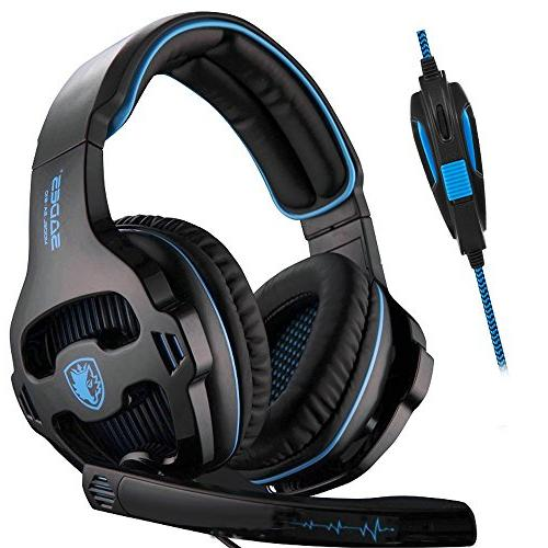 SADES Gaming Over Ear Stereo Headphones Headphones with Noise Microphone Volume Control Xbox Laptop Mac