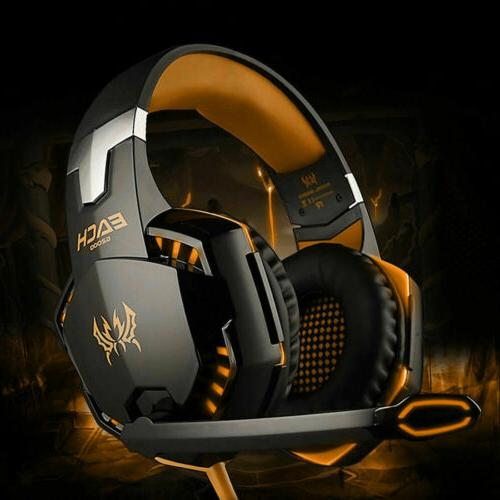 For PS5 PS4 3.5mm Gaming Headset Xbox one Headphone with RGB