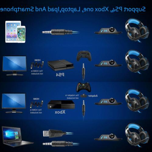 3.5mm Gaming Headphones Stereo PS4 Xbox 360E