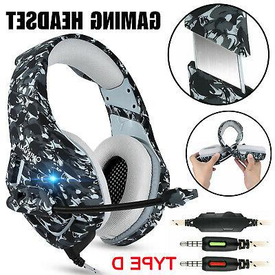 9 Pro Gaming Headset Headphones For PS4 Xbox Laptop