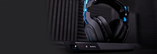 ASTRO Gaming Wireless Dolby Gaming - Black/Blue + A50 Noise-Isolating PlayStation +