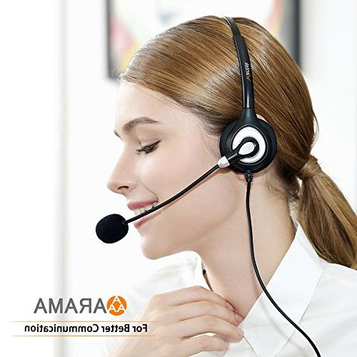 Arama with Mic and Headband for LG, HTC, Blackberry, ZTE Phone Smartphones 3.5 Jack