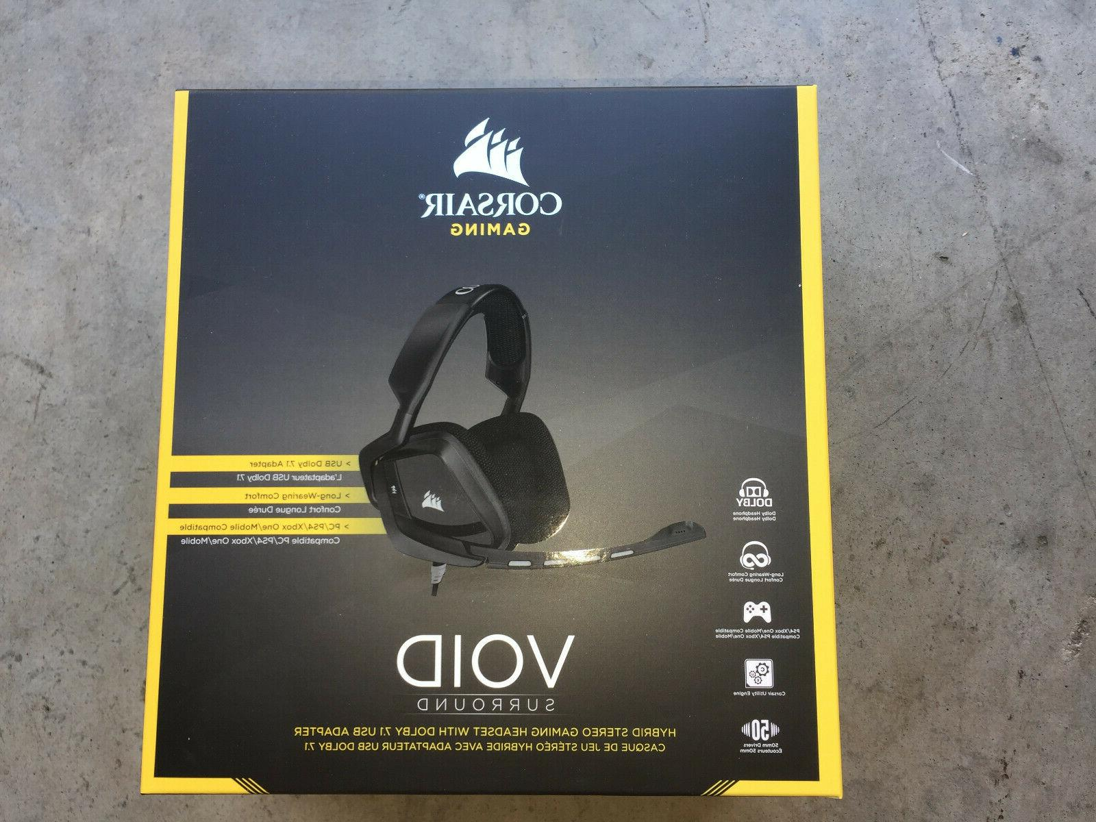 Corsair - Void Surround Hybrid Wired Stereo Gaming Headset -