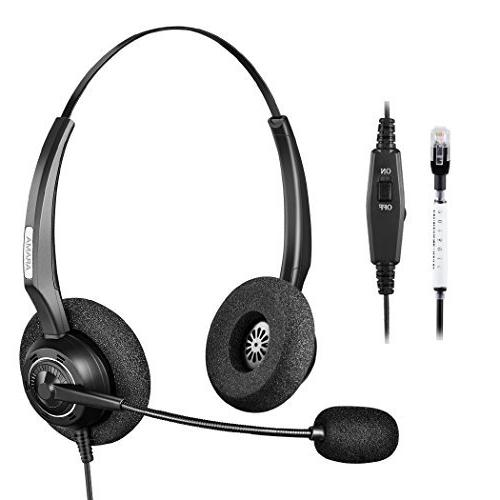 Arama A200s Corded Telephone Headset With Noise Canceling Mic