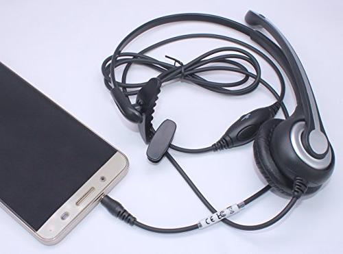 Wantek Wired Headset with Canceling and Fit Samsung HTC ZTE BlackBerry Mobile and Smartphones 3.5mm