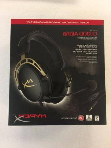 cloud alpha pro gaming headset gold limited