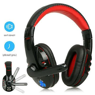 Wireless BT  Gaming Headset Headphones for Samsung iPhone PC