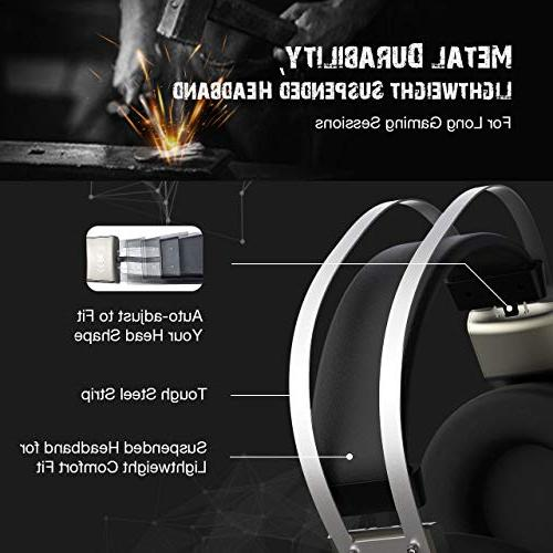 Mpow 7.1 Headphones for FPS Game, 50mm Driver, Stereo USB Computer Noise Cancelling Light, Easy for PC,