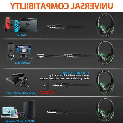 Stereo Over-ear Headphone Mic For PS4/Nintendo Switch/Xbox One/PC